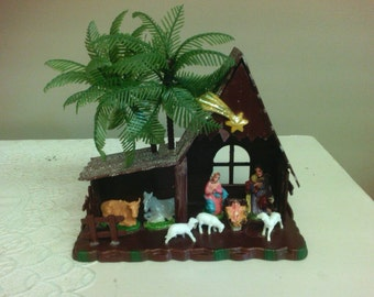 Vintage Plastic Nativity Set