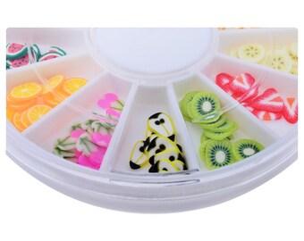 Fimo Shapes, Fruit Slices, Fimo Fruit, Fimo Clay, Miniature Fimo, Fimo Slices, Miniature Shapes, 5mm Shapes, Tiny Shapes, Tiny Cabochons,