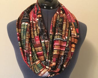 Book Infinity Scarf / Library / Bookworm / Book / Scarf / Teacher / Educator / Education / Librarian / Infinity Scarf / Gift / Professor