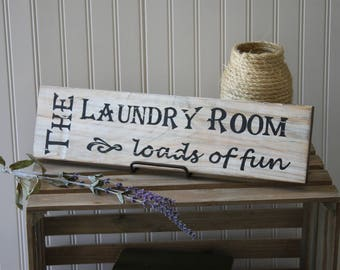 The Laundry Room-Wooden Sign, Wall Hanging, Laundry Room,