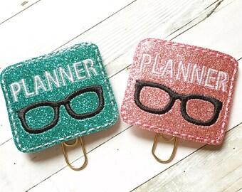 Planner Girl Nerd Planner Clip - Planner Accessories - Glam Planner - Bookmark - Planner Clip