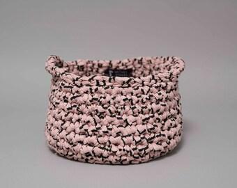 Crochet storage basket, toy storage basket, baby storage basket, modern storage, blush pink decor, modern nursery decor, toilet roll holder