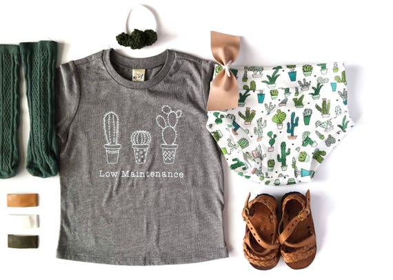 Cactus Shirt, Low Maintenance Child Tee or Bodysuit