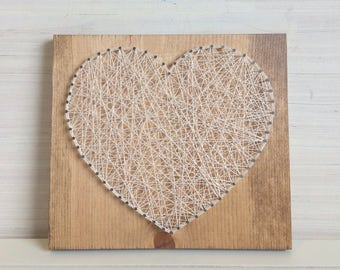 Heart String Art Wooden Wall Decor - READY TO SHIP