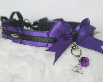 Spiked Goth ~ Kitten Play Collar