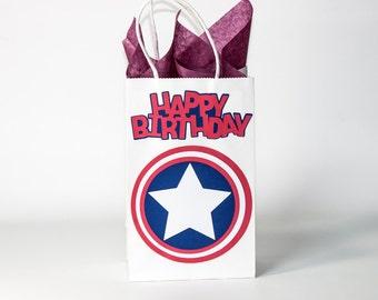Captain America Party-Captain America Party Bags-Captain America Birthday-Captain America Party Decoration-Captain America Goodie Bags