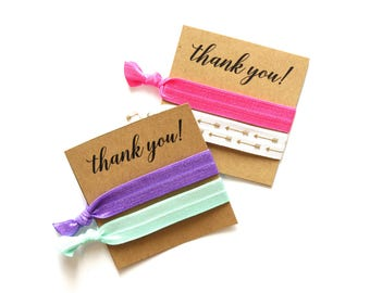 Thank You Personalized Hair Tie Favors | Custom Thank You Favor | Thank You Gift | Hair Tie Favors | Shower Favors | Thank You Hair Ties