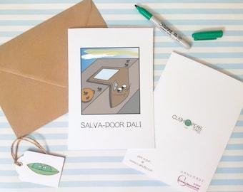 Dali Pun Card - Funny Art Card - Art Puns - Salvador Dali - Alternative Birthday Card - Card for Art Lovers - Friend Card - Charity Card