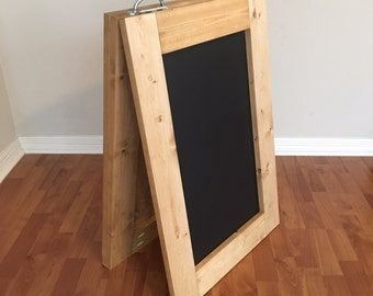 Double Sided Chalkboard Sandwich Board Sign, A-Frame Sign, Event Sign, Event Display, Wood, Chalkboard Sign, Wedding, Business, Marketing