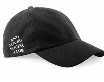 Black anti social social club dad hat