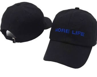 Drake inspired more life stiched dad hat