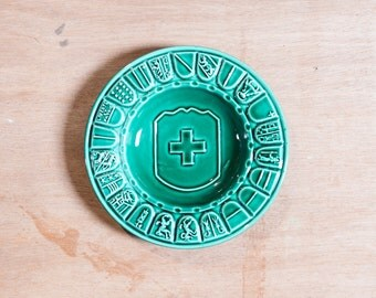 "Beautiful green plate for collection "" liberté et patrie "" - from France"