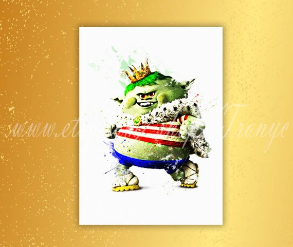 Trolls Prince Gristle Wall Art Posters Prints