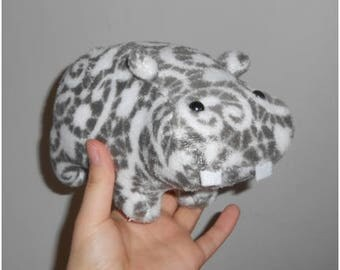 READY TO SHIP: handmade mini hippo plush
