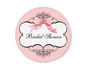 Bridal shower sticker