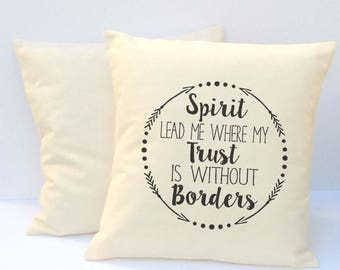 Christian Pillow, Pillow With Words, Decorative Pillow, Christian Gift, Pillow With Sayings