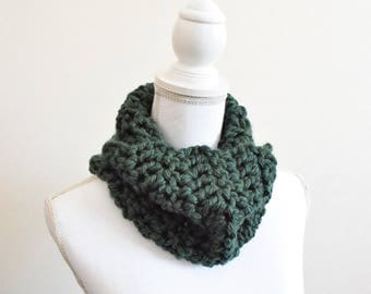 Crochet cowl scarf ~ forest ~ Swedesboro cowl