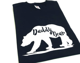 Daddy Bear T-Shirt, Daddy Bear Top, Fathers Day Gift, Mens Tops, Gifts For Men, Dad Son, Dad Daughter, Baby Shower Gift, First Christmas