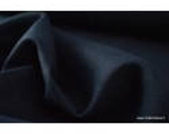 Washed linen fabric Navy for making x50cm