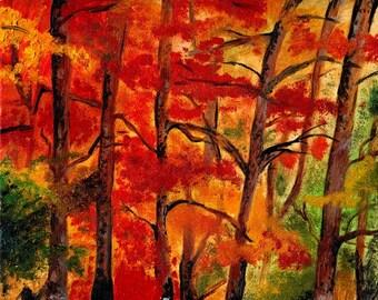 Art Print-AutumnTrees