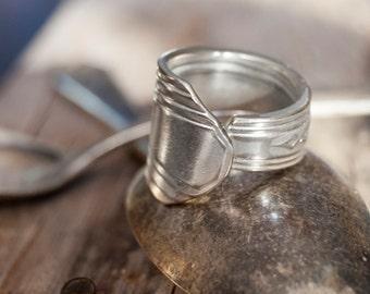 silverware jewelry, Spoon Ring, Fork Ring, spoon jewelry, silverware art