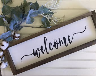 Welcome Sign- Farmhouse Sign- Farmhouse Decor- Wall Decor