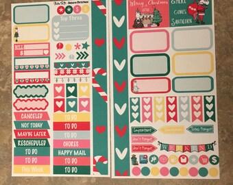 Unicorn Christmas Medium Personal MM Stickers Louis Vuitton Mambi Inkwell Press Filofax Kikki K Happy Life Planner LV Holiday Presents