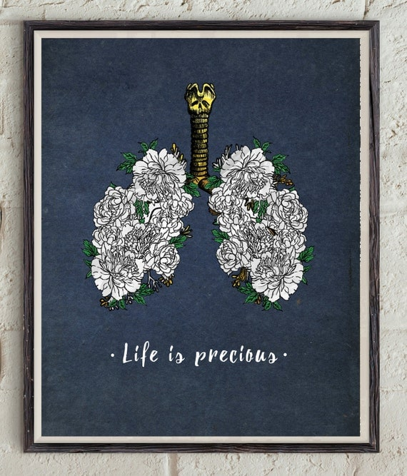 Anti Smoking Quotes: Life Is Precious Inspirational Quote Motivational Print