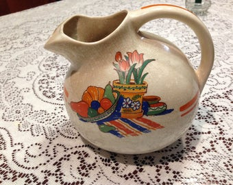 Hostess Ware Pottery Guild Disc/Ball Pitcher