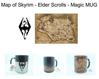 Skyrim Map - Elder Scrolls Coffee Tea Magic Mug - 320ml