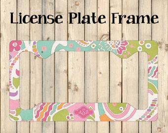 License Plate Frame   License Plate Cover    Car License Plate Frame   New Driver Gift   Monogrammed License   License Plate Frames