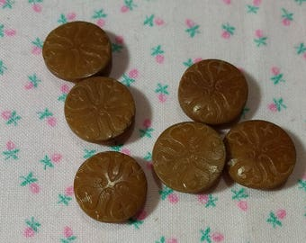 Vintage Vegetable Ivory Buttons