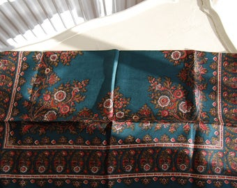 Vintage patterned silk 1960s scarf