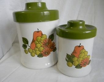 SALE*** Retro Metal Canister set of 2
