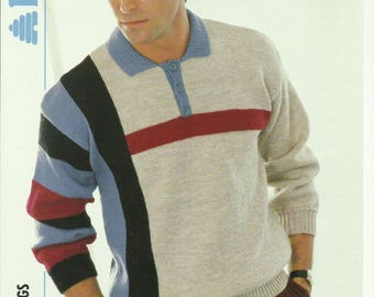 Mens Sweater Knitting Pattern.