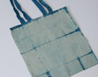 Hand made indigo dye bag