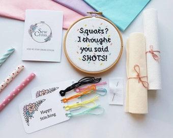 Cross Stitch Kit - Modern Cross Stitch - Funny Cross Stitch Kit - Cross Stitch Beginners - Cross Stitch Pattern - Embroidery Kit - Xstitch