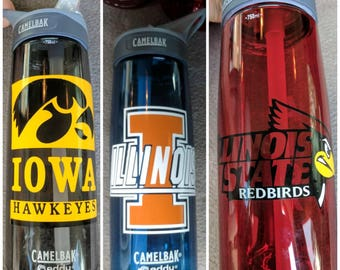College water bottle/ Graduation Gift/ University water bottle/ collegiate water bottle/ college logo water bottle/College water bottles