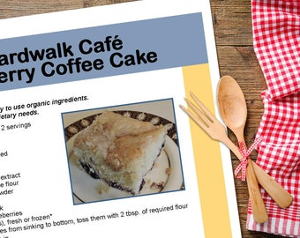 Dessert recipes etsy boardwalk caf blueberry coffee cake downloadable pdf or jpeg gourmet classic dessert recipe file forumfinder Choice Image