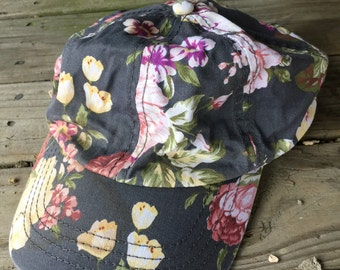 Hawaiian hat grey and mauve
