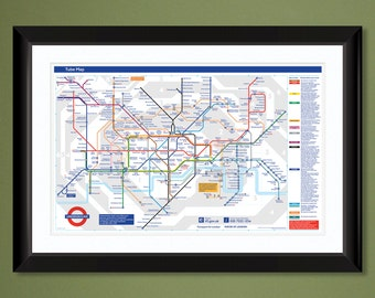 London Tube Map 2009  (18x12 Heavyweight Art Print)