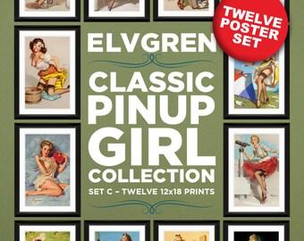 Gil Elvgren 12-Piece Poster Set C (12x18 Heavyweight 100% PCW Cover)