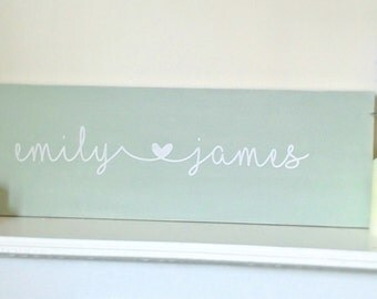 Handmade Wedding Love Name Plaque, engagement gift, bride and groom, lived happily ever after, mr and mrs