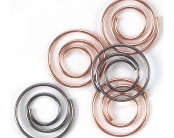 "Mini Metal Spiral Clips .5"" 25/Pkg Antique & Copper"