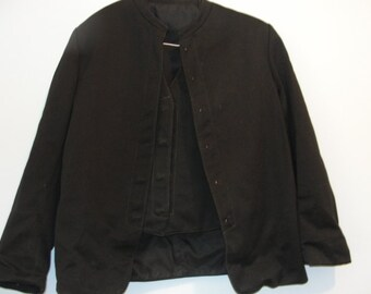 Authentic Amish Jacket and Vest - SKU 1324