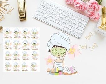 Spa girl Planner stickers
