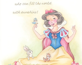 Disney Princess Snow White art print