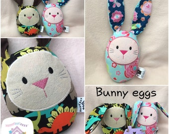 Handmade Soft Toy Easter Bunny Eggs - Made to Order Stuffed Toy
