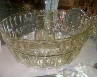 vintage German glass jelly/bundt mould