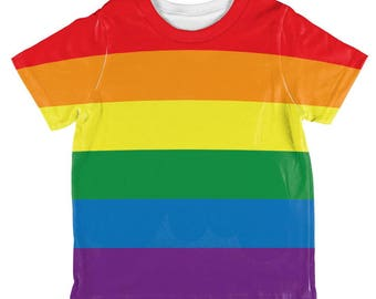 LGBT Gay Pride Flag All Over Toddler T Shirt